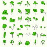 Árboles vectoriales en verano Stock de ilustración