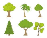 Árboles verdes fijados Foto de archivo libre de regalías