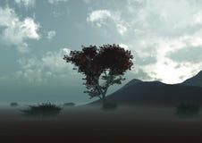 Árboles y arbustos en el desierto Imágenes de archivo libres de regalías