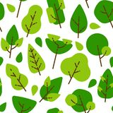 Árboles y hojas planos inconsútiles del modelo libre illustration