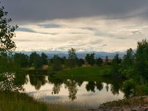 Árboles y lago Fotos de archivo libres de regalías