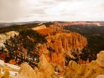 Árboles y malas sombras Bryce Canyon Imagen de archivo