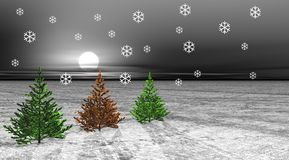 Árboles y nieve stock de ilustración