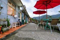 Área al aire libre del pueblo del gato de Houtong Imagen de archivo