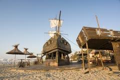 Área ao ar livre temático do Shipwreck fotos de stock