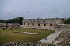 A área arqueológico Uxmal, as ruínas do palácio Imagens de Stock Royalty Free