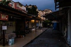 Área assustador Desolated fechado do Funfair - Turquia Foto de Stock Royalty Free