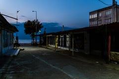 Área assustador Desolated fechado do Funfair - Turquia Fotografia de Stock