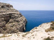 Área azul da gruta em Gozo, Malta Imagem de Stock