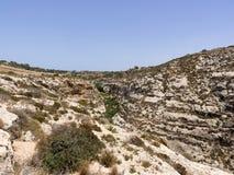 Área azul da gruta em Gozo, Malta Fotos de Stock
