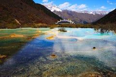 Área cénico de Huanglong Fotografia de Stock Royalty Free