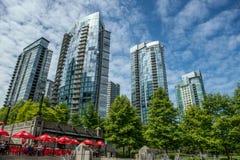 Área céntrica del puerto deportivo de Vancouver Imagen de archivo