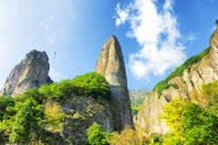 Área cênico da cachoeira de Dalong fotos de stock royalty free