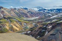 Área cênico das montanhas de Landmannalaugar, Islândia Foto de Stock Royalty Free