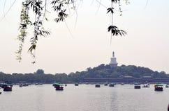 Área cênico de Shichahai perto do Pequim China Fotos de Stock Royalty Free