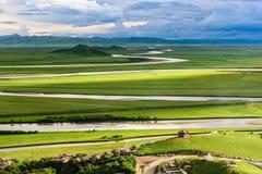 A área cênico de Tangke-huanghe Foto de Stock