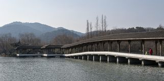 Área cênico do lago ocidental Hangzhou imagens de stock
