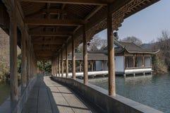 Área cênico do lago ocidental Hangzhou fotografia de stock royalty free