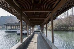 Área cênico do lago ocidental Hangzhou fotografia de stock