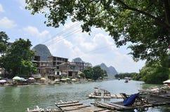 Área cênico do rio de Yulong em Yangshuo Fotos de Stock Royalty Free