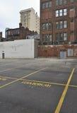 Área central abandonado e da degradação imagem de stock