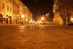 Área central de Lvov Foto de Stock Royalty Free
