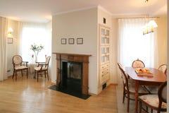 Área clássica da sala de visitas e de jantar Foto de Stock Royalty Free
