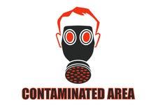 Área contaminada Imagen de archivo libre de regalías