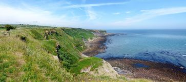 Área costal panorâmico de North Yorkshire, Inglaterra Fotos de Stock