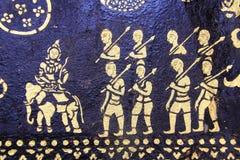 Área da aleta da tampa da arte da pintura de parede do templo de Loas imagens de stock royalty free