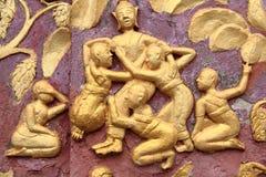 Área da aleta da tampa da arte do templo de Loas imagens de stock royalty free