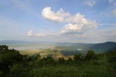 A área da conservação de Ngorongoro Foto de Stock