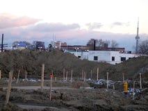Área da construção das casas novas de Toronto foto de stock royalty free