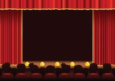 Área da fase do cinema e do teatro Imagens de Stock Royalty Free