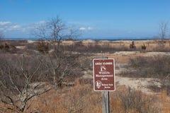 Área da gestão dos animais selvagens em Sandy Hook Imagem de Stock