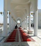 Área da oração do ` s das mulheres, a mesquita de flutuação de Reham, Jeddah, reino de Arábia Saudita foto de stock