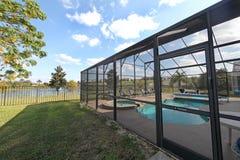 Área da piscina imagem de stock