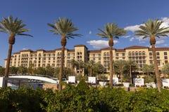 Área da piscina em Las Vegas, nanovolt do recurso do rancho do vale verde o 2 de agosto Fotografia de Stock