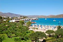 Área da praia e de recreação do hotel de luxo Fotografia de Stock