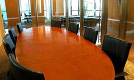 Área da reunião da sala de reuniões fotografia de stock