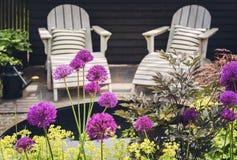 Área da sala de estar do jardim Imagens de Stock