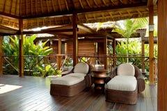 Área da sala de estar dos termas para o abrandamento Imagens de Stock Royalty Free