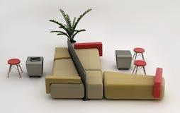 Área da sala de estar e uma área de espera Imagem de Stock Royalty Free