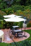 Área da sala de estar na floresta tropical Fotos de Stock Royalty Free