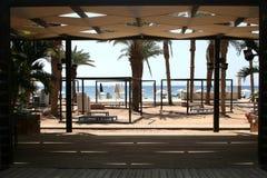 Área da sala de estar na praia Foto de Stock
