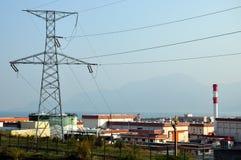 Área da torre e da planta do ferro elétrico Fotos de Stock Royalty Free