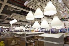 Área das vendas da iluminação Fotografia de Stock Royalty Free