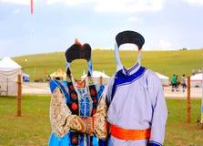 área de acampamento do naadam em ulaanbataar fotos de stock
