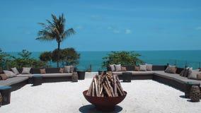 Área de ar livre da sala de estar com Seaview filme