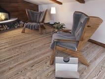 Área de assento confortável das duas cadeiras Fotografia de Stock Royalty Free